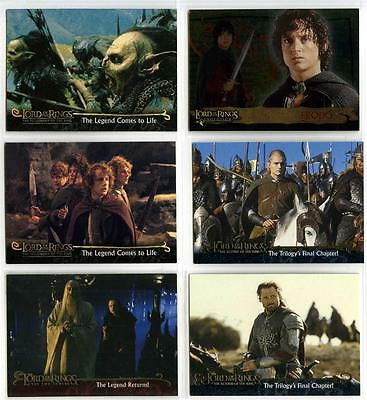 Lord of the Rings LOTR - 6 Differnet Promo Cards