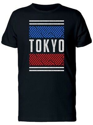 Retro Red And Blue Tokyo Men's Tee -Image by Shutterstock