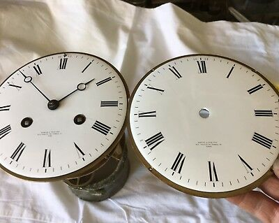 Antique French Double Sided  Clock Movement