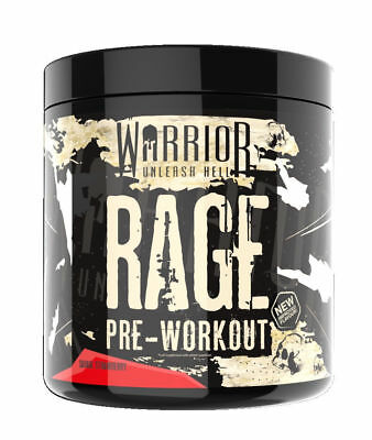 All New Warrior RAGE Pre Workout: 45 Servings; Muscle Pump; Improved Flavours