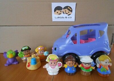 FISHER PRICE LITTLE PEOPLE LOT VOITURE SONORE + 7 PERSONNAGES (Plage mariée) # 4