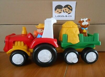 Fisher Price Little People Tracteur Ferme Sonore + 1 Personnage + Vache # 2