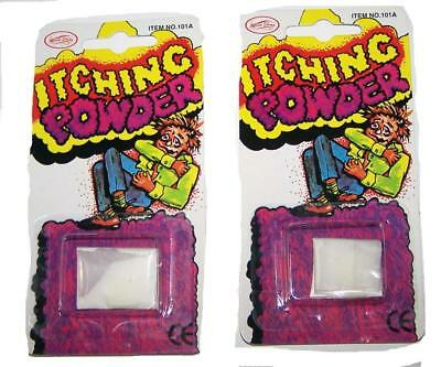 12 PACKAGES OF TRICK ITCHING POWDER praticial joke itch gag prank REALLY WORKS