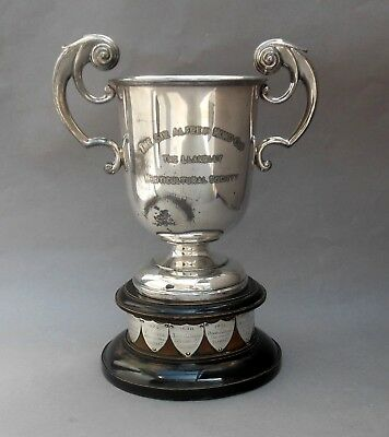 1928 Silver Plated TROPHY CUP ~ SIR ALFRED MOND LLANELLY / Jones Lewis Bowen