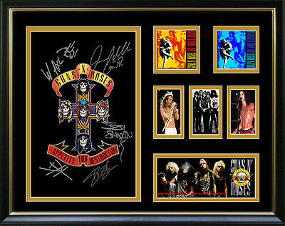Guns and Roses Signed Framed Memorabilia