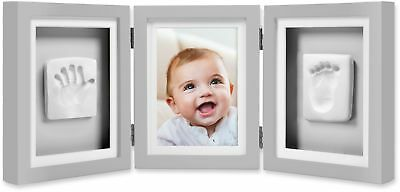 Pearhead Babyprints 4-Inch x 6-Inch Deluxe Photo Frame in Grey