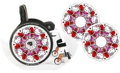 Wheelchair Spoke Guards & Stickers any design including name personalising