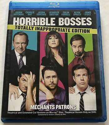 Horrible Bosses (Bluray, 2011, 3 Discs) Canadian