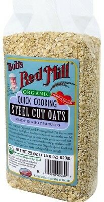 Bob's Red Mill Organic Quick Cook Steel Cut Oats 22 oz (Pack of 4)