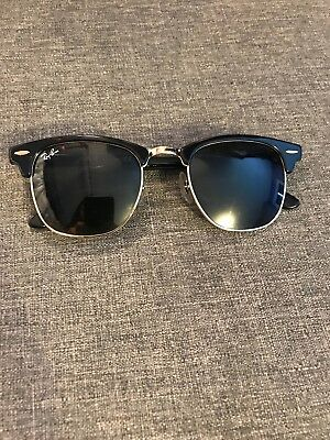 9925e60bf2 Ray-Ban RB3016 W0365 49 21 Clubmaster Classic Black Sunglasses GREAT  condition