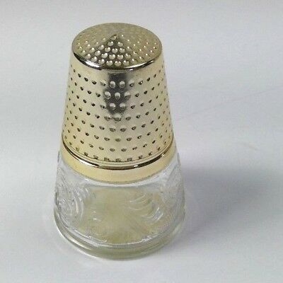 "vintage Avon cologne bottle Golden Thimble 3.5"" empty Bird Of Paradise scent"
