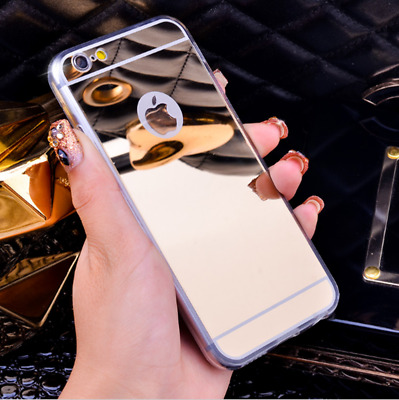 New Luxury Mirror Case Ultra Thin Gel Soft Cover For iphone 8P/8/7P/7/6P/6/5S/4S