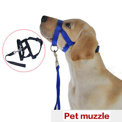 Nylon Dog Muzzle Pet Head Collar Training Mouth Cage for Dogs M L XL Finest