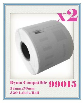 2 Compatible for Dymo / Seiko SD99015 Label 70mm x 54mm Labelwriter450/Turbo