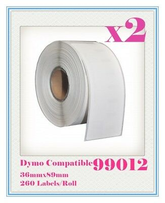 2 Compatible for Dymo / Seiko 99012 Label 36mm x 89mm Labelwriter450/450Turbo