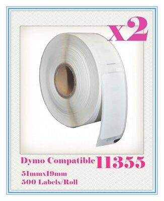 2 Compatible for Dymo / Seiko 11355 Label 51mm x 19mm Labelwriter450/450Turbo