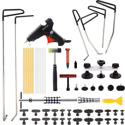 PDR Paintless Dent Repair Tool Hail Removal Tools Puller Lifter Glue Gun Rod Kit