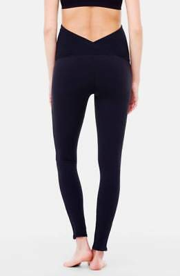 INGRID & ISABEL Active Maternity Leggings with Crossover Panel Black Size LARGE