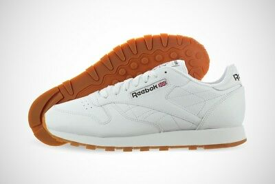 e7f51268ca400 REEBOK CLASSIC LEATHER 49797 White Gum Casual Fashion Shoes Medium ...