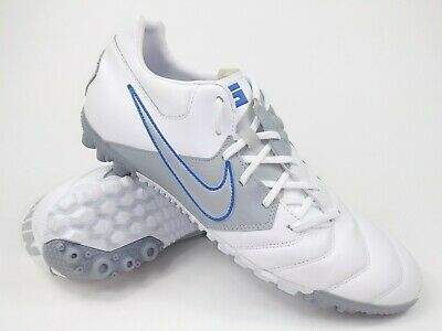 Nike Mens Rare Nike5 Bomba Pro Turf Soccer Shoes 415119-104 White Grey Vintage