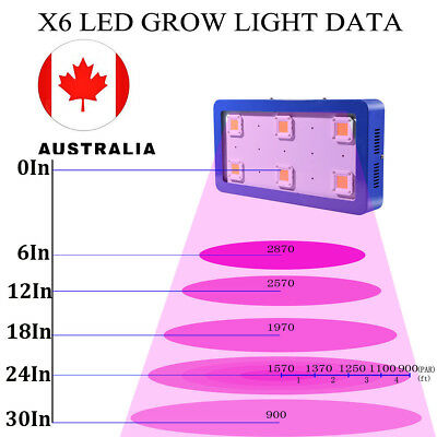 X6 COB 1800W LED Sunshine Full Spectrum Grow Light for Greenhouse Blue In Canada