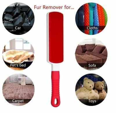 PET FUR HAIR WIZARD LINT REMOVER BRUSH SELF CLEANING BASE 3in1 TRAVEL SET