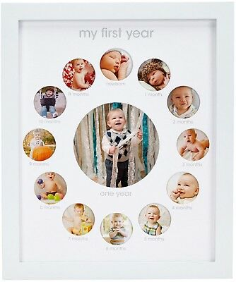 Pearhead 'My First Year' 13-Photo Collage Frame in White