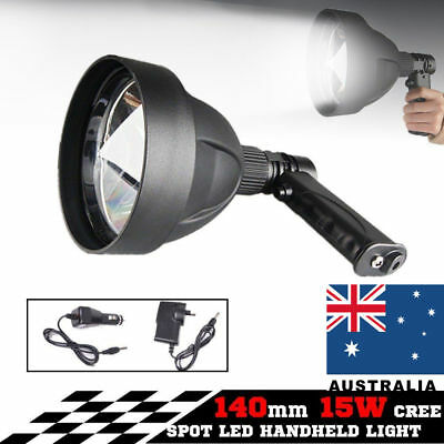 15W CREE T6 Handheld Spot Light Rechargeable LED Spotlight Hunting Shooting 12V