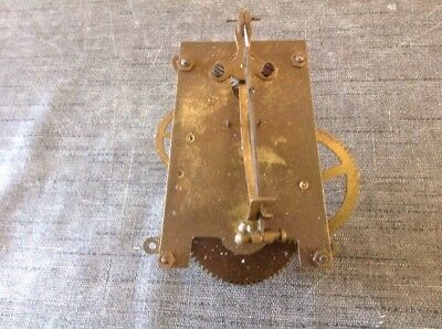 Antique Clock Movement A Frame Untested To Restore 10x8cm