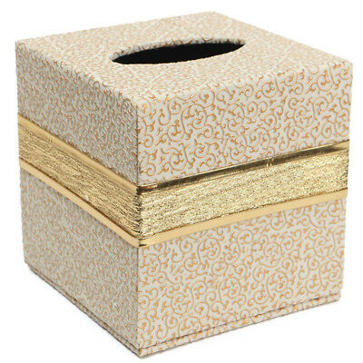 Durable Room Car PU Leather Square Tissue Box Paper Holder Case Cover Napk G7A7
