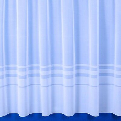Leanne White Semi-Plain Net Curtain - Various Widths And Drops Available