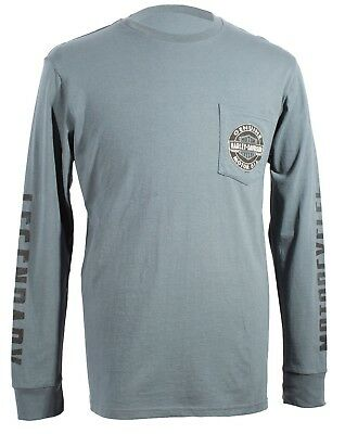 VF Mens Longsleeve Herren, mit Backprint Frost Gray * Cable Buster