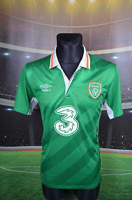 Ireland Eire Umbro Home Football Soccer Shirt (L) Jersey Top Trikot Large Green