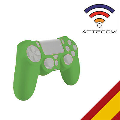 Actecom® Funda Carcasa Silicona Verde Mando Sony Ps4 Playstation 4