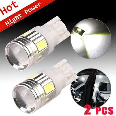 2x T10 Wedge 912 921 White High Power Projector Backup Light Reverse LED Bulb US