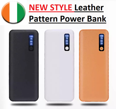 NEW STYLE Leather Pattern Power Bank 20000mAh Portable Mobile Charger Universal