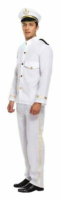 Captain Mens Fancy Dress Up Outfit Costume Ship Naval Officer Sailor Male NEW