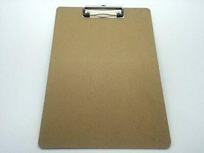 Pack of 10  A4 Quality Wooden - Clipboard with Hanging Hole ideal for