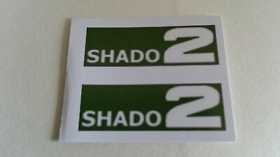Dinky Toys 353 Shado 2 Stickers/ Labels Green/White