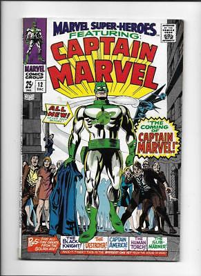 Marvel Super-Heroes #12 [1967 Vg-Fn] 1St App Captain Marvel!
