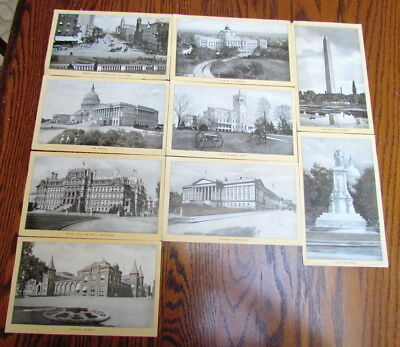 Lot of 9 Singer Sewing Machine souvenir advertising photo cards Washington DC