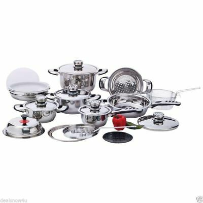 Chef's Secret 22-pc High-Quality Heavy-Duty Stainless Steel Cookware Set