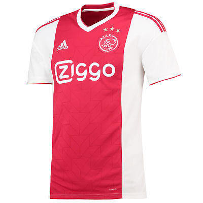 Official Ajax Football Home Jersey Shirt Tee Top 2018 19 Mens adidas