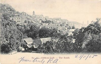 POSTCARD   GIBRALTAR   The  South   Circa  1905