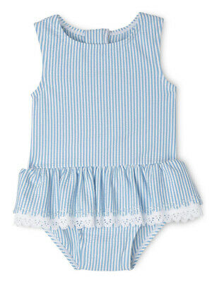 NEW Sprout Girls Stripe Swimsuit TGS19504 Blue