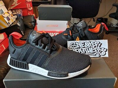 c077ccd4492ec Adidas NMD R1 Nomad Boost Core Black White Red Orange Running Men s B37621