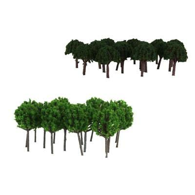 100x Model Trees Z SCALE Train Railway Layout Scenery Wargame Diorama Parts