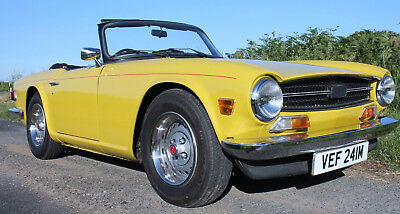1973 Triumph TR6 With Stromburg Carburetors Restored Beautiful TR6 NOT AVERAGE