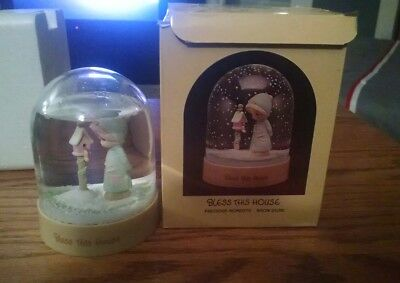 Precious Moments Bless This House Snowglobe