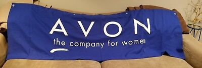 Avon The Company for Women Logo Table Sign Fabric Banner - Use for Vendor Shows